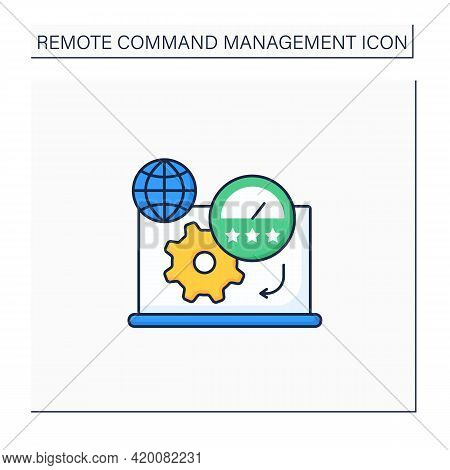 Productivity Standards Color Icon. Overload Work Productivity. Growth And Profitability. Remote Mana