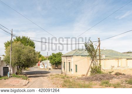 Richmond, South Africa - April 2, 2021: A Street Scene, With Old Buildings, In Richmond In The North