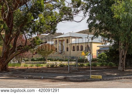 Richmond, South Africa - April 2, 2021: A Street Scene, With The Historic City Hall, In Richmond In