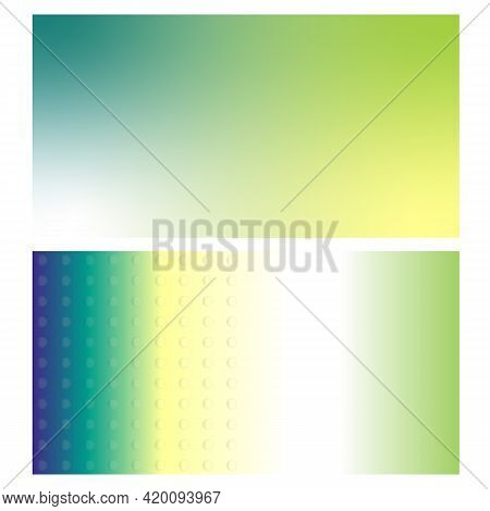 Visiting Card Yellow Green Abstract Gradient Background Banner.