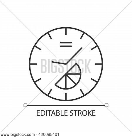 Branded Clock Linear Icon. Modern Designed House Decor. Make Home Look Stylish And Modern. Thin Line