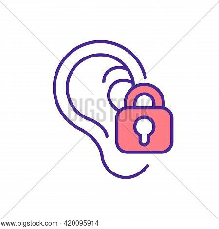 Deafness Rgb Color Icon. Hearing Impairment. Ear Damage And Infection. Exposure To Loud Noise. Sound
