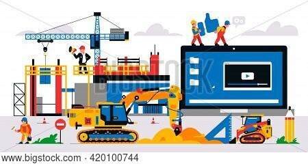The Website Is Under Construction. Service Page Warning That Will Be Coming Soon. Construction Site