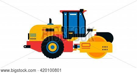 Construction Machinery, Asphalt Paver. Commercial Vehicles For Work On The Construction Site, Road W