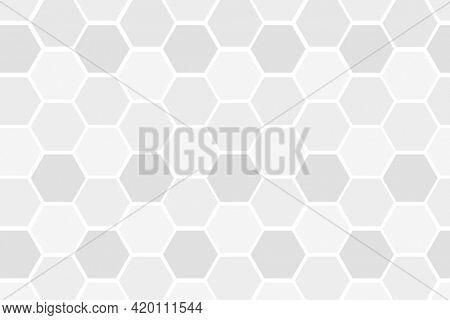 Gray hexagonal patterned background wallpaper