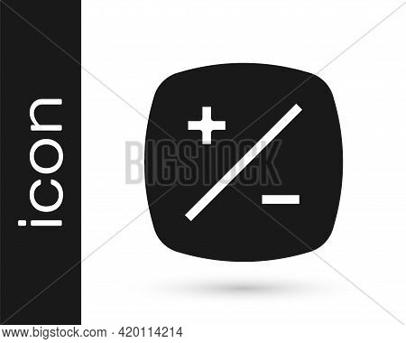 Black Exposure Compensation Icon Isolated On White Background. Vector