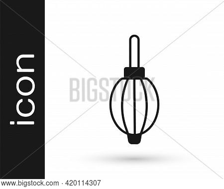 Black Dust Blower Icon Isolated On White Background. Air Duster. Lens Cleaner. Camera Sensor Cleanin