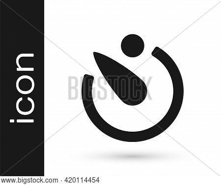 Black Camera Timer Icon Isolated On White Background. Photo Exposure. Stopwatch Timer Seconds. Vecto