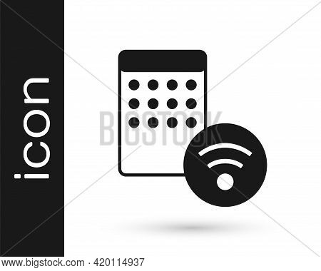 Black Air Humidifier Icon Isolated On White Background. Portable Electric Home Appliance, Home Air P