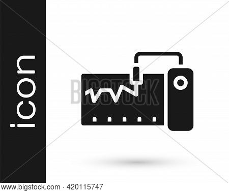 Black Electrical Measuring Instrument Icon Isolated On White Background. Analog Devices. Measuring D