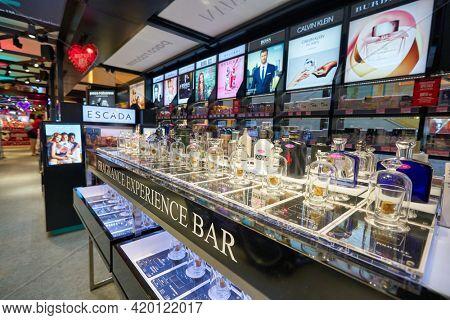KUALA LUMPUR, MALAYSIA - CIRCA JANUARY, 2020: Fragrance Bar Experience in PLAY UP at Fahrenheit 88 shopping center in Kuala Lumpur.