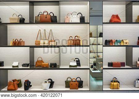 KUALA LUMPUR, MALAYSIA - CIRCA JANUARY, 2020: interior shot of Charles and Keith store in Kuala Lumpur.