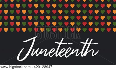 Vector Banner Juneteenth - Celebration, Ending Slavery In Usa, African American Emancipation Day. Sc