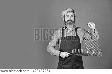 Bbq Food. Culinary Concept. Cooking Utensils. Summer Picnic. Have Fun Enjoy Cooking. Hipster Dyed Be