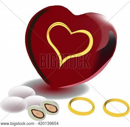 Heart With Wedding Confetti Heart With Wedding Confetti