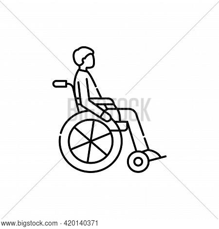 Invalid Color Line Icon. Disability. Isolated Vector Element.