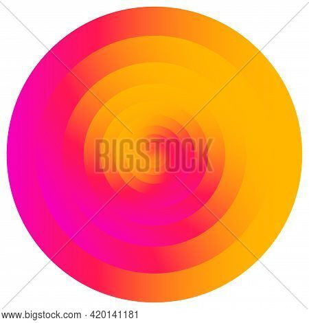 Abstract Concentric Circle. Spiral, Swirl, Twirl Element. Circular And Radial Lines Volute, Helix. S