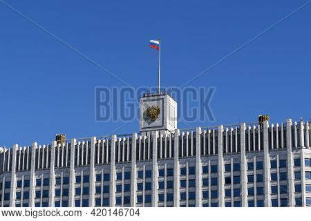 Russia, Moscow May 10, 2021: Government House Of The Russian Federation, White House Of The Governme