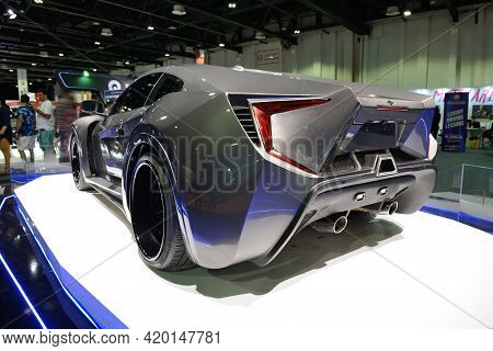 Dubai, Uae - November 16: The Zedro Notorious Sportscar On Dubai Motor Show 2019 On November 16, 201