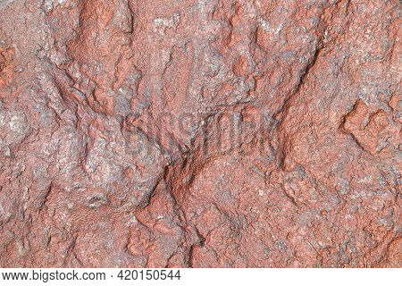 Rough Oxidized Iron Ore Face Surface, South Africa