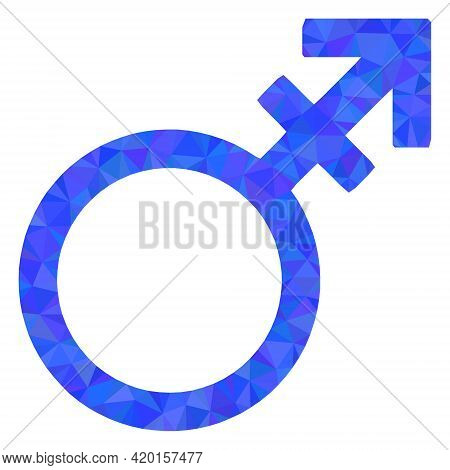 Triangle Alternate Gender Symbol Polygonal Icon Illustration. Alternate Gender Symbol Lowpoly Icon I