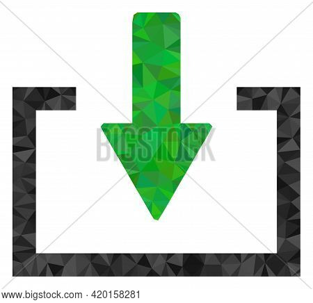 Triangle Download Polygonal Symbol Illustration. Download Lowpoly Icon Is Filled With Triangles. Fla