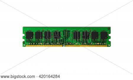Computer Ram-random Access Memory Modules On The White Background