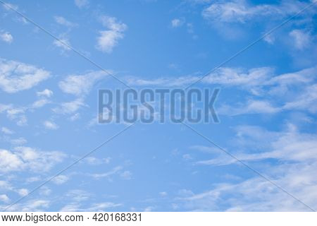 Picture Of Open Skyblue Sky And White Clouds