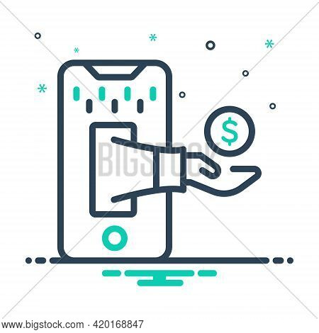 Mix Icon For Trade Business Merchandise Commerce Market