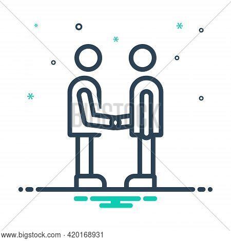 Mix Icon For Partner Fellow Companion Friend Buddy Dost Handshake