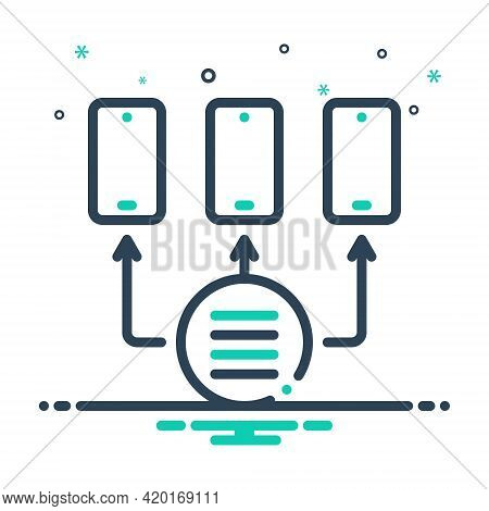 Mix Icon For Provisioning Access Technology Network