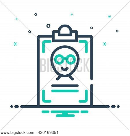 Mix Icon For Name Title First-name Appellation Sobriquet Id-card Identity
