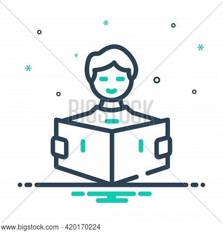 Mix Icon For Learn Read Study Cognize Know Knowledge Student Education