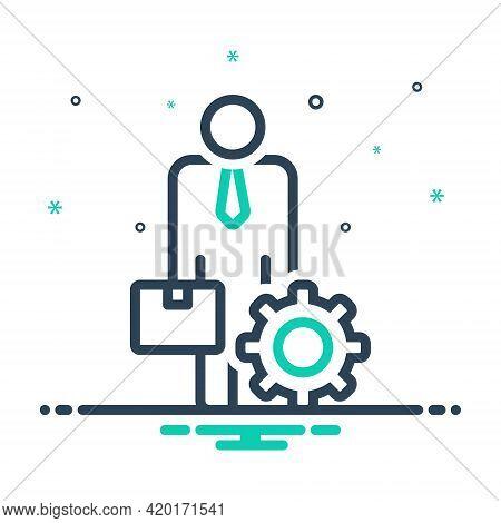 Mix Icon For Ancillary Helper Subsidiary Auxiliary Accessory