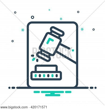 Mix Icon For Adjudicate Justice Lawsuits  Tribunal  Hammer Proceeding Senten Decide Adjudge Decree I
