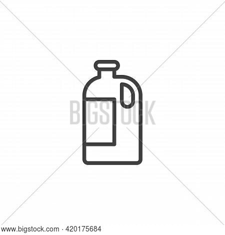 Gallon Of Milk Line Icon. Linear Style Sign For Mobile Concept And Web Design. Milk Bottle Outline V