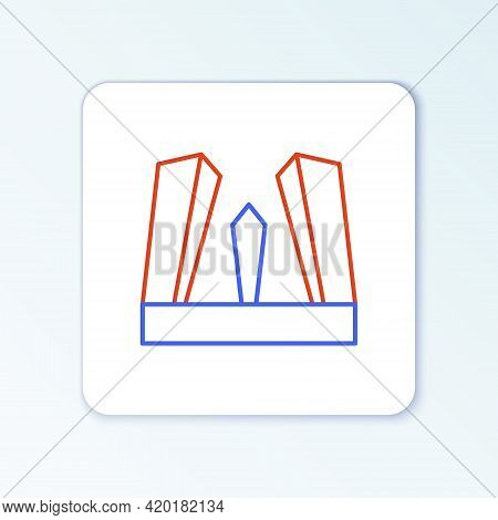 Line Gate Of Europe Icon Isolated On White Background. The Puerta De Europa Towers. Madrid City, Spa