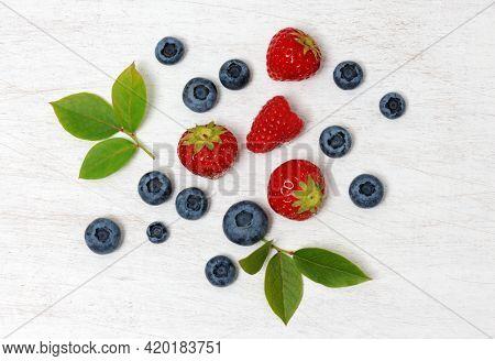 Arrangement of fresh berries, close up