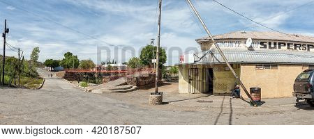 Richmond, South Africa - April 2, 2021: A Panoramic Street Scene In Richmond In The Northern Cape Ka