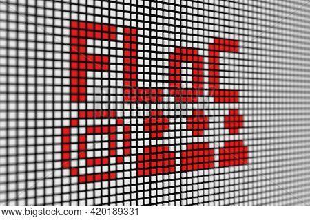 Floc Text Scoreboard Blurred Background 3d Illustration