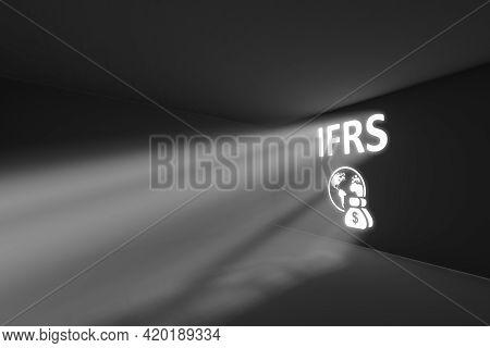 Ifrs Rays Volume Light Concept 3d Illustration