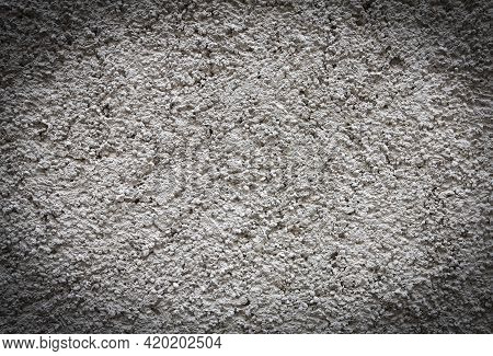 Close Up Old Grungy Texture, Grey Concrete Wall
