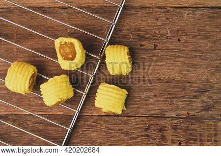 Malaysian Traditional Cookies Called As Pineapple Tarts Or Tart Nenas Served During Eid Fitri