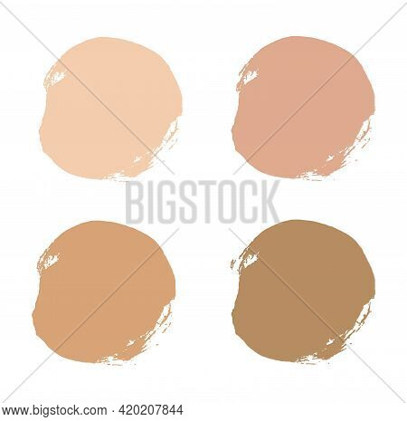 Foundation Tone Cream Makeup Cosmetic Smear. Liquid Stain From The Foundation. Isolated, White Backg