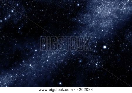 Starfield in the milky way galaxy december 30 2008
