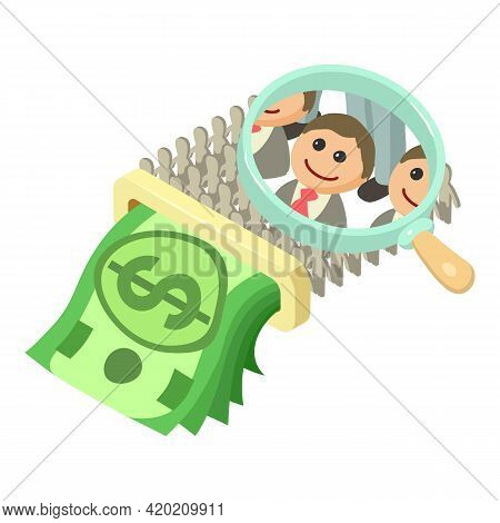 Crowdfunding Icon. Isometric Illustration Of Crowdfunding Vector Icon For Web
