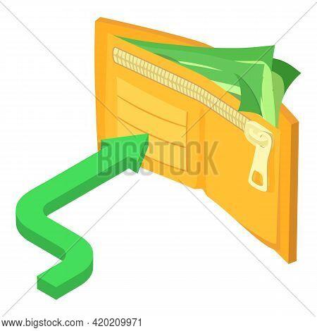 Cashback Icon. Isometric Illustration Of Cashback Vector Icon For Web