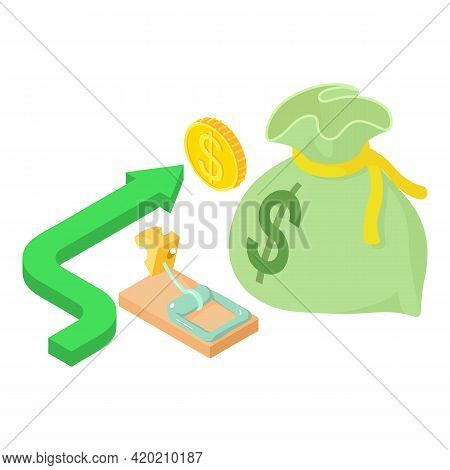 Risky Business Icon. Isometric Illustration Of Risky Business Vector Icon For Web