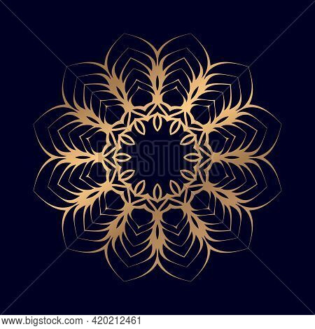 Mandala Ornament In Ethnic Oriental Style. For Coloring Book Page T-shirts Mandala Vector Illustrati