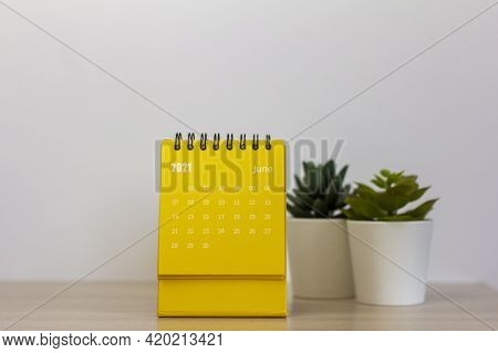Flip Calendar For June 2021. Desktop Calendar For Planning, Scheduling, Assigning, Organizing, Manag